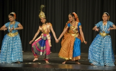 Dancers perform a Thaye Yashoda song at Ancaster High School, where the South Asian Heritage Association of Hamilton and Region hosted its annual Spring Festival.