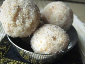 Cooking for Diwali - Coconut Laddu